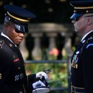 Changing of the guard at the Tomb of the Unknowns 1