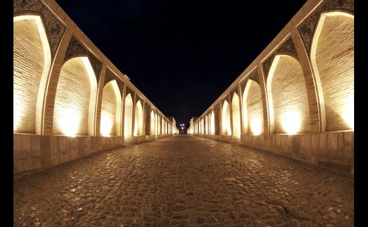 Khaju Bridge at Night