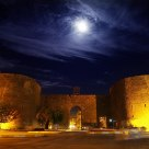 Diyarbakir Castle under the moonlight