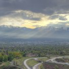 The Oquirrh Mountains under the Shroud 