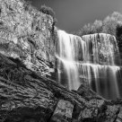 Webster Falls in B&W