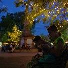 Santa Fe square evening
