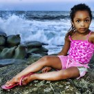 Ayesha on the beach