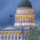 The Utah Capital Building around Dusk
