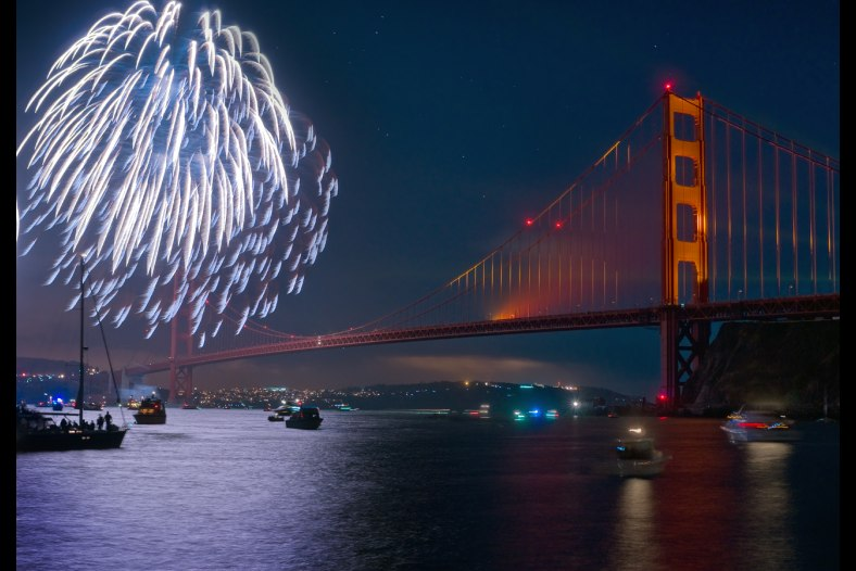 Fireworks & Bridge