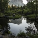 Sunrise at Mirror Lake in Yosemite N.P.