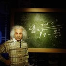 Albert Einstein's wax figure