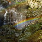 Rainbow under the waterfall