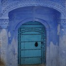 Porte bleue