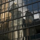 skyscrapers to the mirror