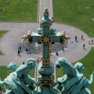 View from top of Berliner Dom on the Lustgarten