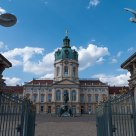 Schloss Charlottenburg, guarded by the warrior statues at its front gate