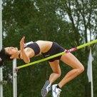 Liz Lamb (New Zealand) at the highjump