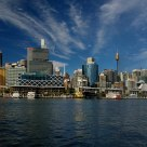Sydney Darling Harbour (Four vertical pictures splicing)