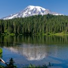 Mount Rainier At Reflection Lakes.