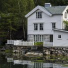 An old house on the Geiranger fjord / Norway