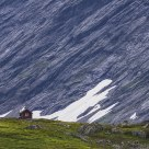 The little lonely hut beside the great mountain / Norway