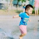 sliding boy
