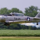 U.S. Air Force T-6 Texan taking off