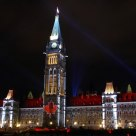 Canada's Parliament Hill at night