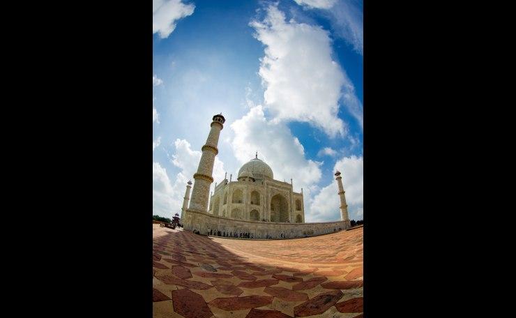 The Taj Mahal on Fisheye