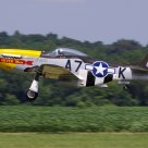 P-51D Mustang taking off
