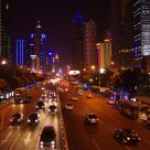 Night view  of  Shen Nan  road  SHENZHEN