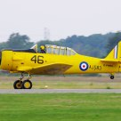 Canadian Harvard trainer taking off