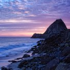 Point Mugu Rock Backlit at Sunset