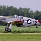 P-51C Redtail Mustang taking off