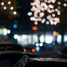 Citylight bokeh at night