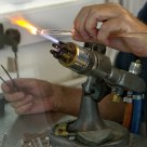 Glass artist at work