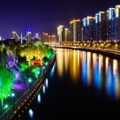 Colorful night in Shanghai