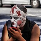 artista callejero/sidewalk artist