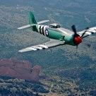 Sea Fury OVer Garden of the Gods