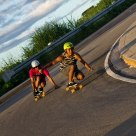 Long Board Skaters