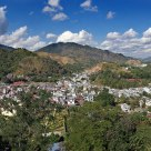 panorama of 3 countries in one shot. Burma Thailand and Laos.