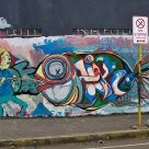 Fish on a Stick (Graffiti Wall)