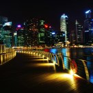 Marina bay in the night