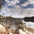 Rocks at Patoka Lake