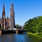 The bridge and the Gothic towers