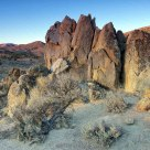 Sunrise Light At Moon Rock