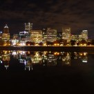 Skyline of Portland at night