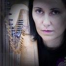 Inés Lorenzo, the galician singer and harpist