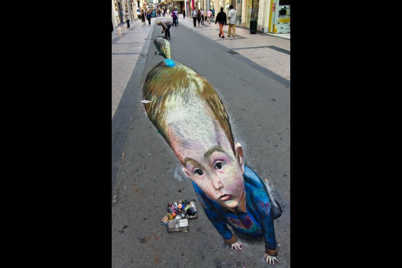 Painted kid