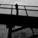 A shadow of a bridge