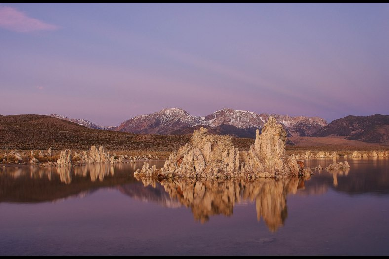 Rays Of Light Sunrise At Mono Lake