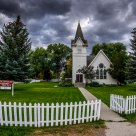 Lamoille Church & Picket Fence