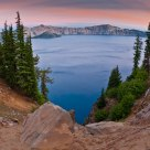 September Dawn at Crater Lake