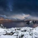 Black Storm Descends on Crater Lake